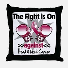 Fight Head Neck Cancer Throw Pillow