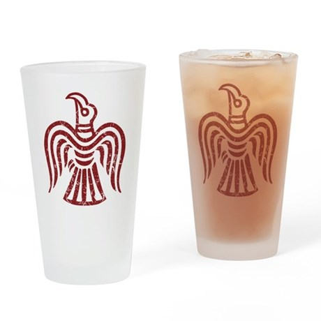Red Raven Drinking Glass