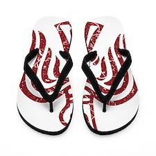 Red Raven Flip Flops