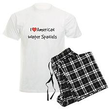 I heart American Water Spaniels pajamas