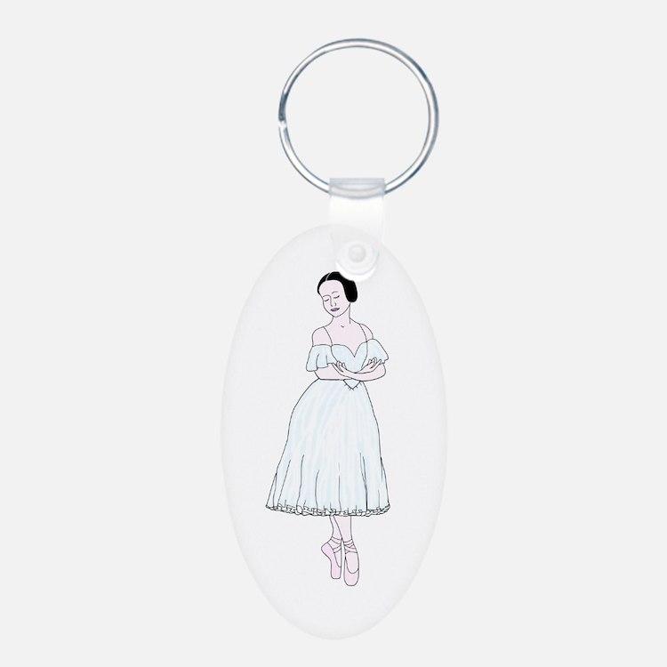 Giselle Ballet Oval Keychain