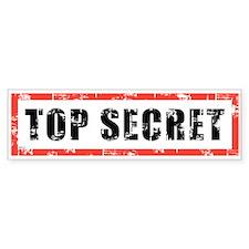 Top Secret Bumper Sticker