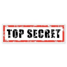 Top Secret Car Sticker