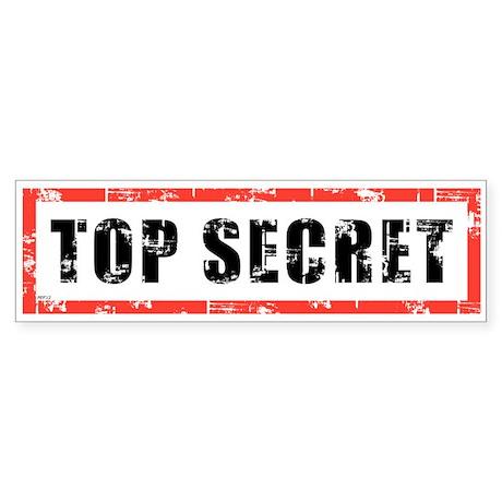 Top Secret Sticker (Bumper)