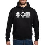 Peace Love Radiology Hoodie (dark)