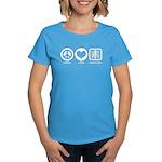 Peace Love Radiology Women's Dark T-Shirt
