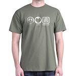 Peace Love Radiology Dark T-Shirt