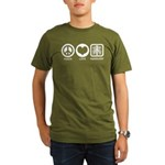Peace Love Radiology Organic Men's T-Shirt (dark)