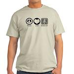 Peace Love Radiology Light T-Shirt