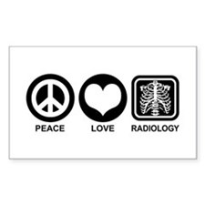 Peace Love Radiology Decal