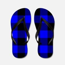 Blue and Black CheckeredFlip Flops