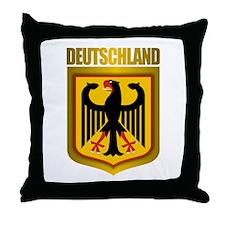 """""""Deutschland Gold"""" Throw Pillow"""