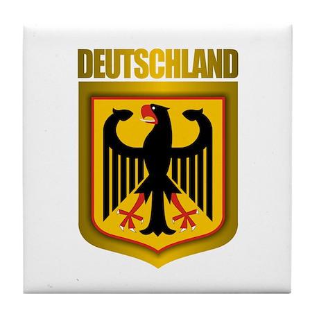 """""""Deutschland Gold"""" Tile Coaster"""