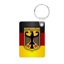 """""""Deutschland Gold"""" Aluminum Photo Keychain"""