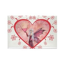 The Flying Valentine Rectangle Magnet
