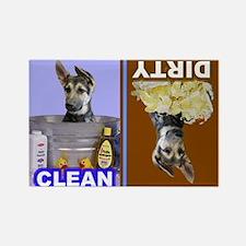 Funny German shepherd Rectangle Magnet (100 pack)