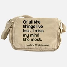 Lost Mind Messenger Bag