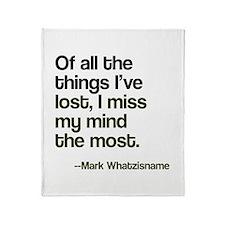 Lost Mind Throw Blanket