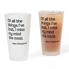 Lost Mind Drinking Glass