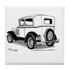 Tile Coaster With Model A Ford