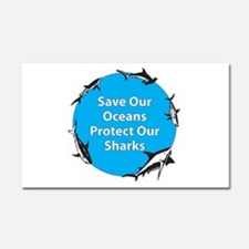 Save Our Oceans. Protect Our Car Magnet 20 x 12