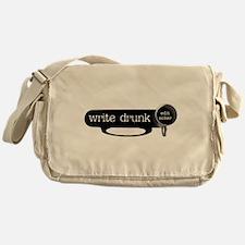 WRITE DRUNK Messenger Bag