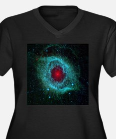 Eye of God (Helix Nebula) Women's Plus Size V-Neck