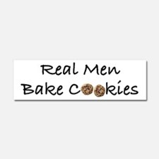 Real Men Bake Cookies Car Magnet 10 x 3