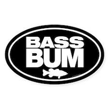 Bass Bum Oval Decal Decal