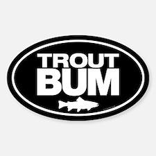 Trout Bum Oval Sticker Sticker (Oval)