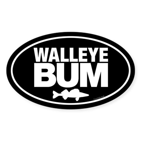 Walleye Bum Sticker