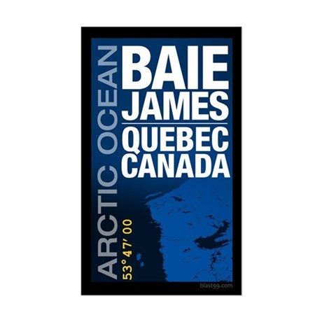 James Bay Quebec Canada Sticker (Rectangle)