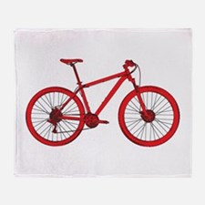 Cute Mountain bike Throw Blanket