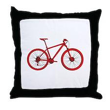 Cute Mountain bike Throw Pillow