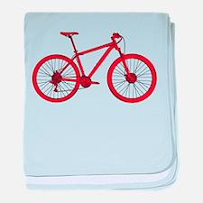Cute Mountain bike baby blanket