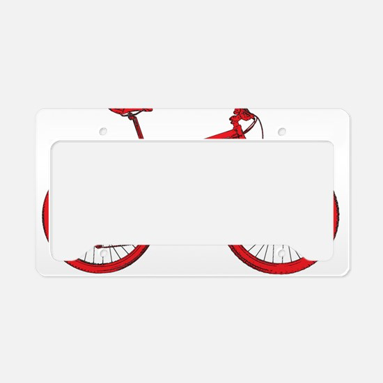 Cute Cycle License Plate Holder