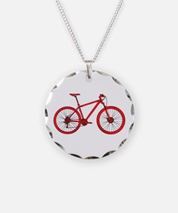 Funny Mountain biker Necklace