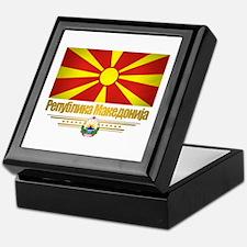 Macedonian Flag Keepsake Box