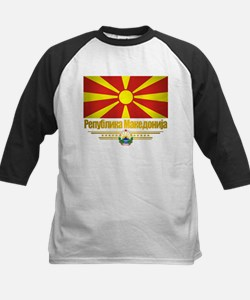 Macedonian Flag Kids Baseball Jersey
