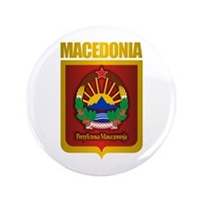"""Macedonian Gold"" 3.5"" Button"