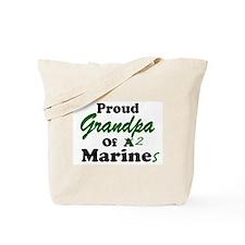 Proud Grandpa 2 Marines Tote Bag