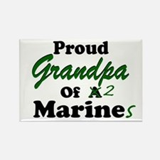 Proud Grandpa 2 Marines Rectangle Magnet