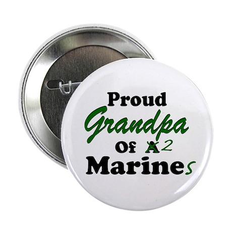 Proud Grandpa 2 Marines Button