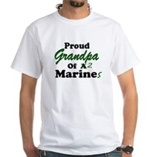 Proud Grandpa 2 Marines Shirt