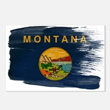 Montana Flag Postcards (Package of 8)