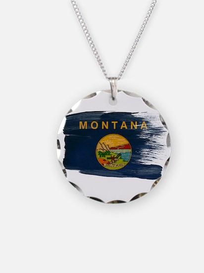 Montana Flag Necklace