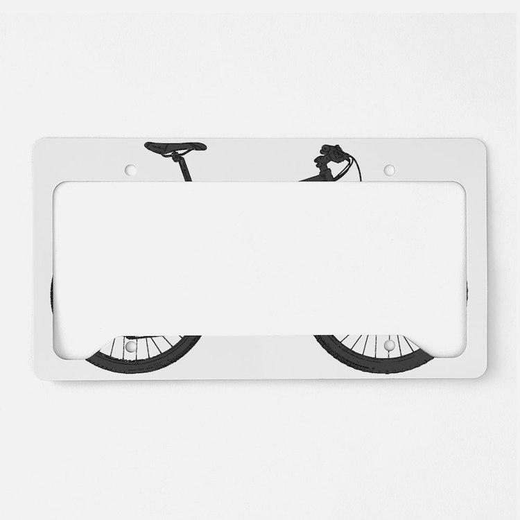 Cute Mountain bike License Plate Holder