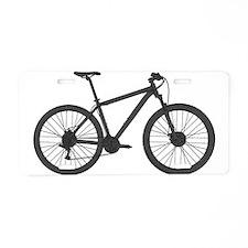 Cute Mountain biking Aluminum License Plate