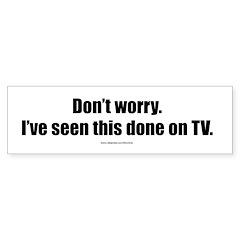 TV TV Gear Bumper Bumper Sticker