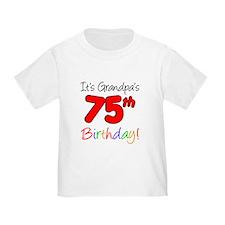 It's Grandpa's 75th Birthday T